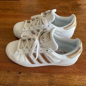 Adidas Originals Superstar Sneakers White Gold